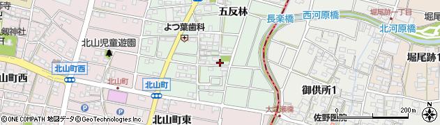 愛知県江南市天王町(五反林)周辺の地図