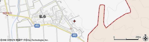 京都府福知山市私市(東稲葉)周辺の地図