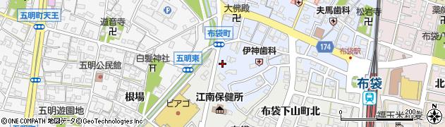 くまごろうらーめん江南店周辺の地図