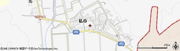 京都府福知山市私市(西ケ端)周辺の地図