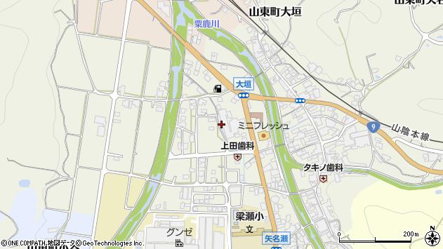 〒669-5103 兵庫県朝来市山東町矢名瀬町の地図