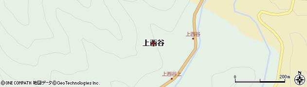 鳥取県三朝町(東伯郡)上西谷周辺の地図