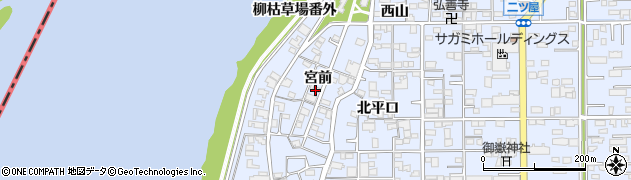 愛知県一宮市小信中島(宮前)周辺の地図