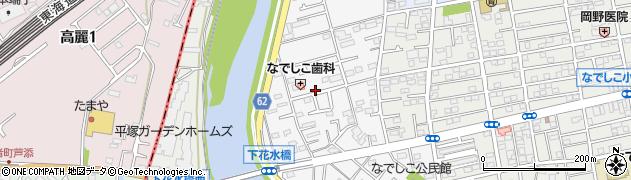 神奈川県平塚市撫子原周辺の地図