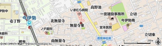 愛知県一宮市今伊勢町本神戸(無量寺東)周辺の地図
