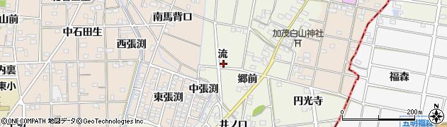 愛知県一宮市千秋町加茂(流)周辺の地図