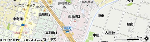 愛知県一宮市東島町周辺の地図