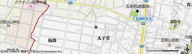 愛知県江南市五明町(太子堂)周辺の地図