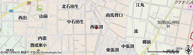 愛知県一宮市春明(西張渕)周辺の地図