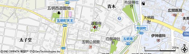 道音寺周辺の地図