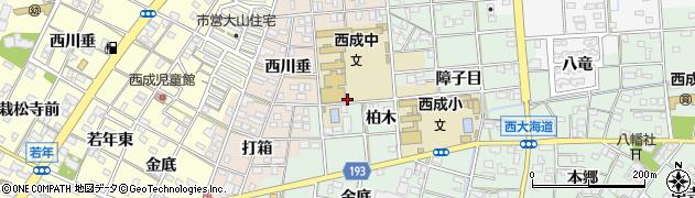 愛知県一宮市西大海道(柏木)周辺の地図