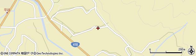 長野県平谷村(下伊那郡)旭町周辺の地図