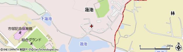 愛知県犬山市蓮池周辺の地図