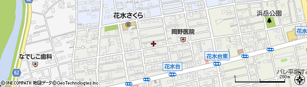 神奈川県平塚市花水台周辺の地図