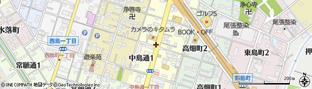 愛知県一宮市中島通周辺の地図
