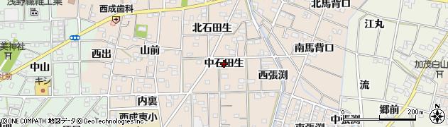 愛知県一宮市春明(中石田生)周辺の地図