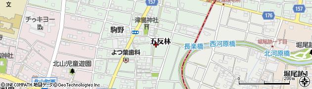 愛知県江南市天王町周辺の地図