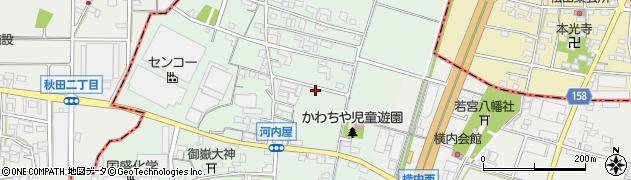 愛知県小牧市河内屋新田周辺の地図