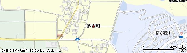 京都府綾部市多田町周辺の地図