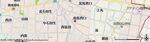 愛知県一宮市春明(南馬背口)周辺の地図