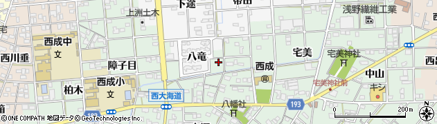 愛知県一宮市西大海道(北裏)周辺の地図