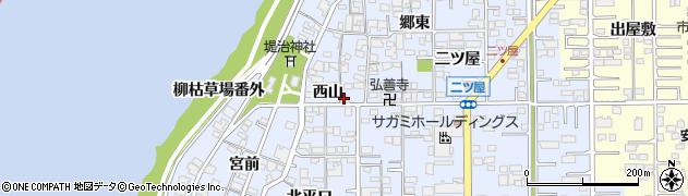 愛知県一宮市小信中島(西山)周辺の地図