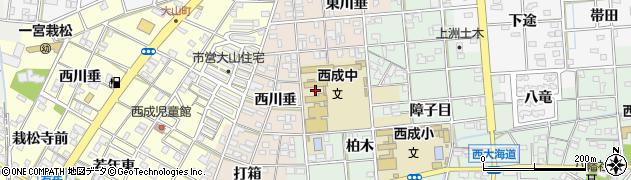 愛知県一宮市柚木颪(中若年)周辺の地図