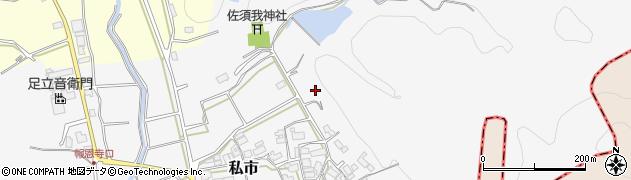 京都府福知山市私市(西稲葉)周辺の地図