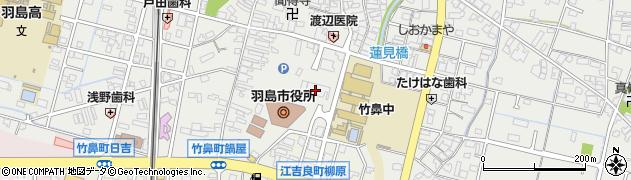 岐阜県羽島市周辺の地図