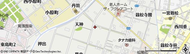 愛知県一宮市丹羽(天神)周辺の地図