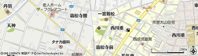 愛知県一宮市大赤見(西川垂)周辺の地図
