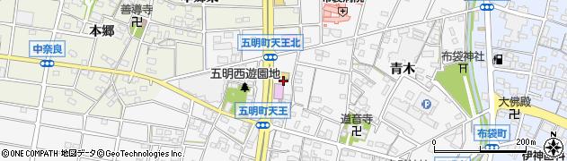 愛知県江南市五明町(天王)周辺の地図