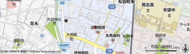 愛知県江南市布袋町(中)周辺の地図