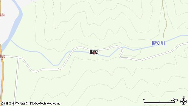 〒680-0744 鳥取県八頭郡若桜町根安の地図