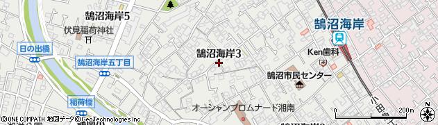 神奈川県藤沢市鵠沼海岸周辺の地図