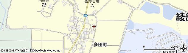 京都府綾部市多田町(宮ノ前)周辺の地図