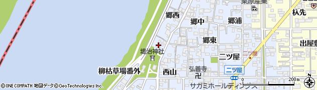 愛知県一宮市小信中島(宮浦)周辺の地図
