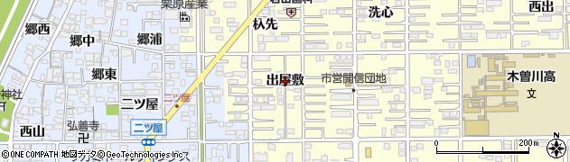 愛知県一宮市開明(出屋敷)周辺の地図