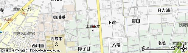 愛知県一宮市時之島(上垂)周辺の地図