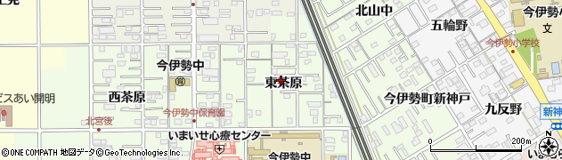 愛知県一宮市今伊勢町宮後(東茶原)周辺の地図