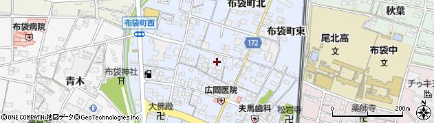 愛知県江南市布袋町周辺の地図