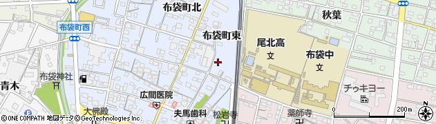 愛知県江南市布袋町(東)周辺の地図