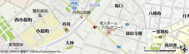 愛知県一宮市丹羽(橋向)周辺の地図