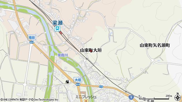 〒669-5102 兵庫県朝来市山東町大垣の地図