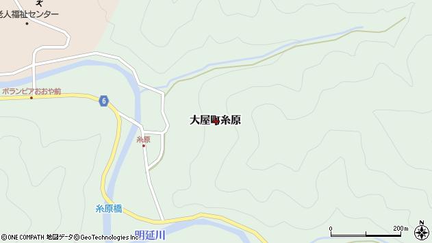 〒667-0431 兵庫県養父市大屋町糸原の地図