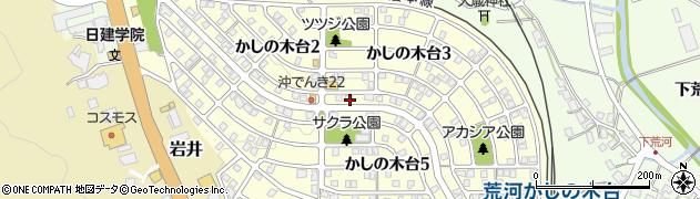 京都府福知山市かしの木台周辺の地図