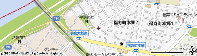 岐阜県羽島市福寿町周辺の地図