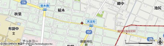 愛知県江南市天王町(駒野)周辺の地図