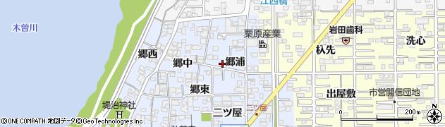 愛知県一宮市小信中島(郷浦)周辺の地図