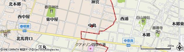 愛知県一宮市春明(中島)周辺の地図